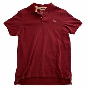 Men's Abercrombie Dark Red Polo Muscle Shirt